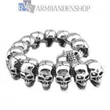 "Rvs bikers armband "" Skull "" ."