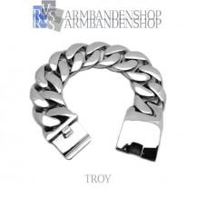 """Rvs stalen armband """"Troy""""."""