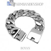 "Rvs armband Boyan"" 21,8 cm."""