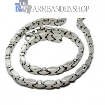 RVS sieraden set ketting + armband 19.5 cm