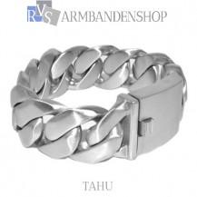 "Rvs armband MAT RVS  Tahu"" 22 cm."""