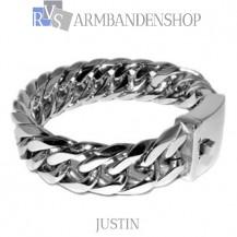 "Rvs stalen armband ""Justin""."