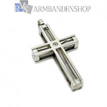 Rvs kruis hanger incl. ketting