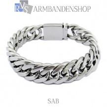 """Rvs armband Sab"""" 22,8 of 21,2 cm."""""""