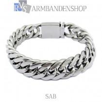 "Rvs stalen dames armband ""Sab"" ."