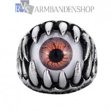 Rvs eyeball claw ring.