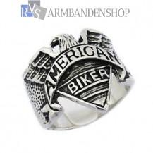 Rvs American Biker ring.