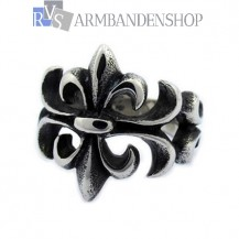 Rvs flower ring