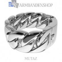 "Rvs armband Mutaz"" 23,5 cm"""
