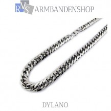 "Rvs ketting Dylano"" 58 cm."""
