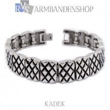 "Rvs armband Kadek"" 21,5 cm."""