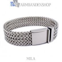 "Rvs armband ""Mila"" 21,8 cm."