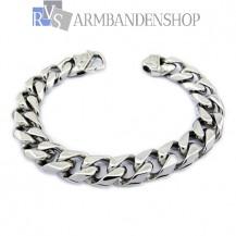 Rvs stalen armband 21,5 22 of 22,5 cm.