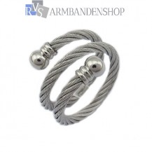 Rvs verstelbare wire ring