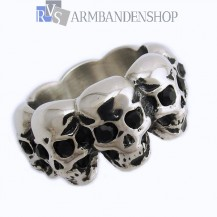 Rvs Multi Skull ring