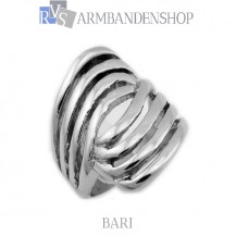 Rvs dames ring  Bari.