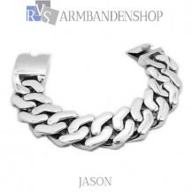 """Rvs armband Jason"""" 22,0 cm"""""""