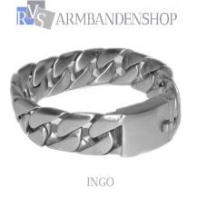 "Matte rvs armband geborsteld staal ""Ingo""."