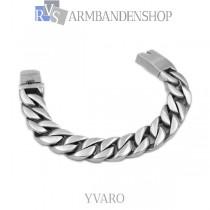 "Matte rvs armband geborsteld staal ""Yvaro""."