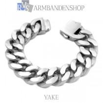 "Matte rvs armband geborsteld staal ""Yake""."