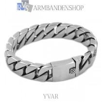 "Matte rvs armband geborsteld staal ""Yvar""."