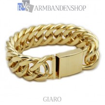 Rvs Gold plated armband Giaro.