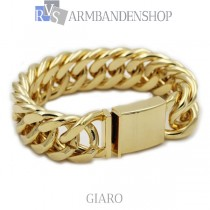 "Rvs Gold plated armband ""Giaro""."