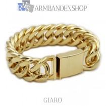 "Rvs Gold plated armband ""Giaro""."