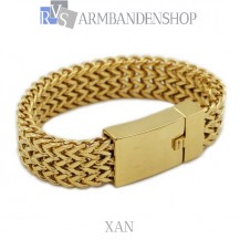 Rvs Gold plated armband Xan.