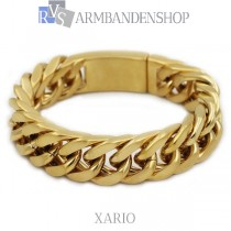 "Rvs Gold plated armband ""Xario""."