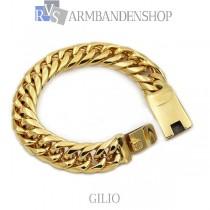 """Rvs Gold plated armband """"Gilio""""."""