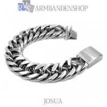 "Rvs stalen armband  ""Josua""."