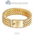 "Rvs Gold plated armband ""Xess""."