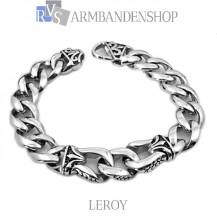 "Rvs armband ""Leroy"" 22.2 cm."