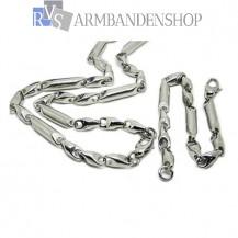 RVS sieradenset ketting + armband