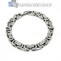 Rvs koningsschakel armband  23 cm.