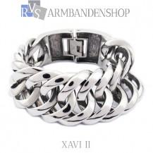 "Rvs armband Xavi II"" 18, 19, 20 of 21,5 cm en 2 cm breed."""