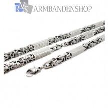RVS sieraden set  koningsschakel ketting + armband.