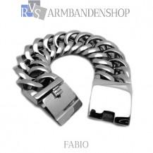 "Rvs armband Fabio"" 21 cm."""