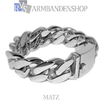"""Rvs stalen armband """"Matz""""."""