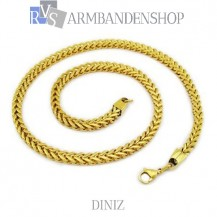 "RVS Gold-color ketting ""Diniz""."