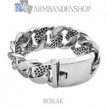"""Rvs armband Borak"""" 21 cm."""""""