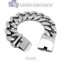 "Rvs armband Fedde"" 21,2 cm."""