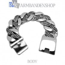 "Rvs stalen bikers armband ""Body""."