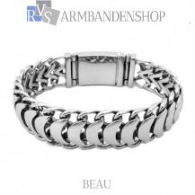 """Rvs dames armband """"Beau"""" ."""