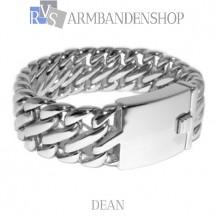 "Rvs armband Dean"" 23 cm."""