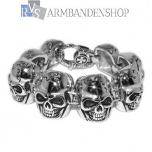 "Rvs armband Skull"" 20,9 cm."""