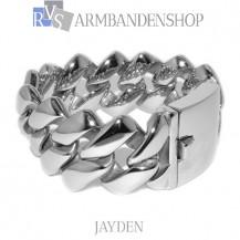 """Rvs armband Jayden"""" 22,7 cm."""""""