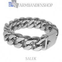 "Rvs armband Salek"" 22,2 cm"""