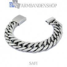"Rvs armband Safi"" 23 cm."""